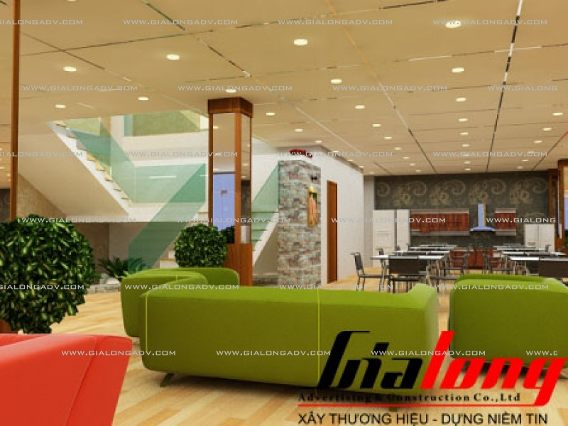 hiết kế showroom ghe sofa
