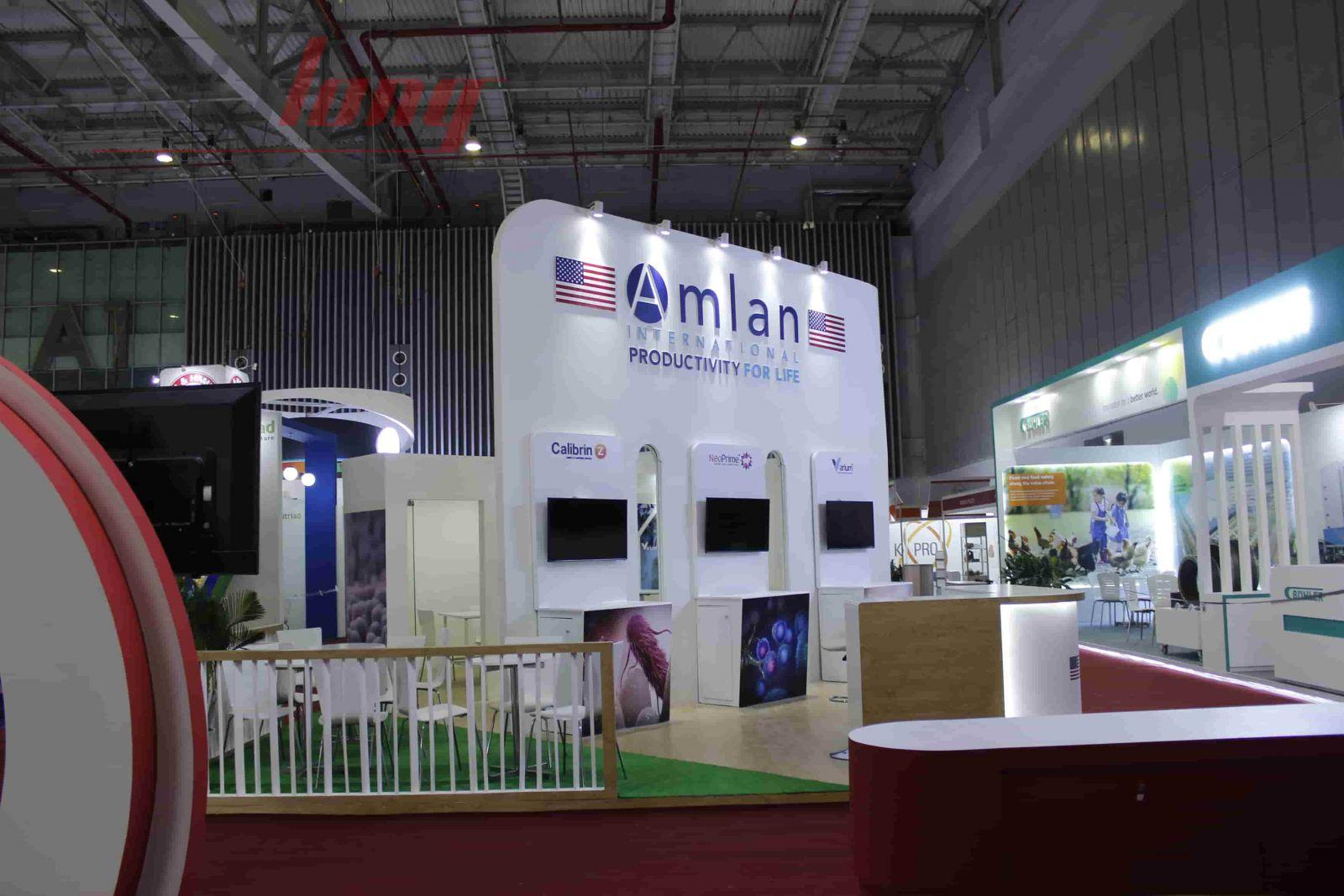 Thi công gian hàng ILDEX VIETNAM 2018 - Amlan của Hoa Kỳ