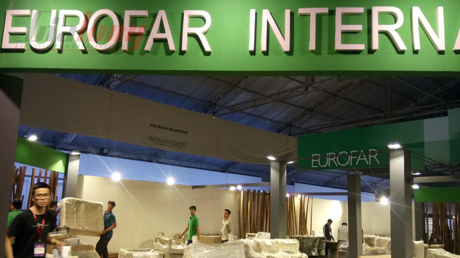 Hoàn thành việc Thi công gian hàng EUROFAR có diện tích siêu lớn  trước tiến độ