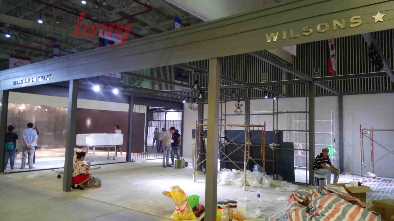 Một trong những gian hàng Triển lãm VIFA EXPO 2018 có kích thước lớn là WISONGS HILL