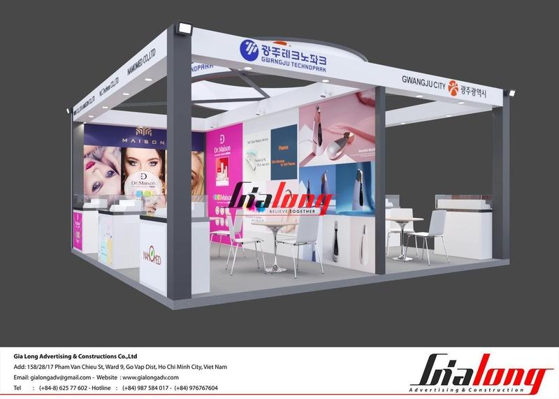 gian hàng triển lãm beautycare Expo 2020